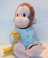"""Gund Curious George 16"""" Pajamas Plush Stuffed Animal  #4030388"""