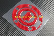 YAMAHA Red Carbon Fiber Protector Fuel Gas Cap Cover Decal FZ1 FZ6 FZ8 R1 R6 FJR
