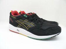 ASICS Men's GEL-Saga Running Shoes H527Y Black/Yellow/Red/Green Size 12.5M