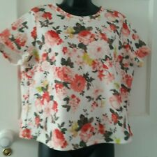 Floral Top Size 16 From Dorothy Perkins