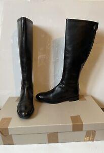 Radley Grand Union Black Leather Riding Boots Size UK 7 EU 40