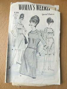 New Unused Vintage Woman's Weekly Sewing Pattern Misses Dress Size 36