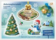 Christmas mnh souvenir sheet 2017 Estonia Tree Snowman Ornaments Häid Pühi