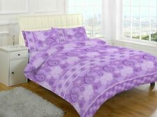 Duvet Cover Set Double King Single Superking Printed Quilt Bedding Size Printed