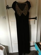 hobbs beautiful velvet evening dress with sequin detail size 12