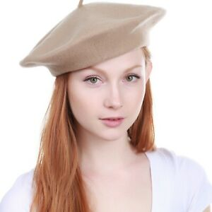 New Women's Warm 100% Wool Fashion French Berets Tam Beanie Slouch Hat Cap