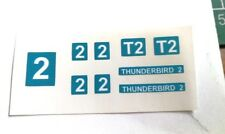 Dinky 101 Thunderbird 2 Sticker set and silver rear fin grill (Blue Version)