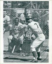 Circa 1967 Bob Bailey Batting Los Angeles Dodgers Infielder Original Press Photo