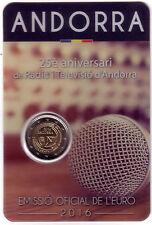 ANDORRA 2 euro 2016 set oficial 25 años de Radio y Televisión Andorrana