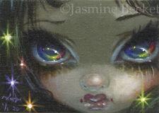 Tiny Treasure 162 ACEO Jasmine Becket-Griffith big eye art rainbow fairy fantasy