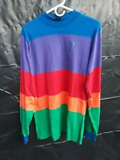 Vintage POLO RALPH LAUREN Horizontal Color Block Long Sleeve Shirt hip hop XL