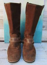Bates Chestnut Suede Harness Riding Motorcycle Boots Style Men's 7 D