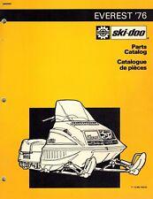 SKI-DOO  EVEREST  SNOWMOBILE PARTS  MANUAL 1976