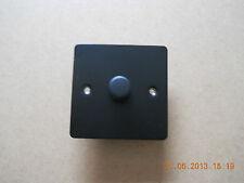 1G 2W DIMMER-MATT BLACK FLAT PLATE