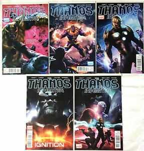 Lot of 5 Marvel Comics - THE THANOS IMPERATIVE - Includes #1 Issue Good Cond.