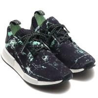 adidas originals NMD R1 Primeknit Mens Trainers Black Marble Retro Sports Shoes