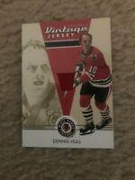 2003-04 Parkhurst Original Six Dennis Hull Chicago Black Hawks Jersey NrMt