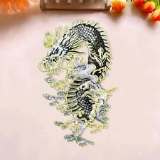 Dragon Embroidered Sew On Iron On Patch Badge Bags Shirt Fabric Applique Craft