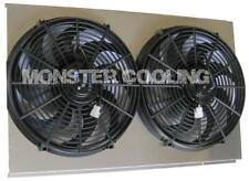 "Chevy Truck Aluminum Radiator Fan Shroud & 14"" Electric Fans -17""H x 28 1/4""W"