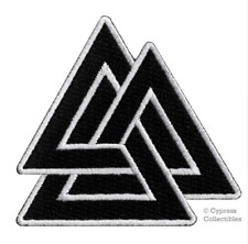 VALKNUT EMBROIDERED PATCH - viking norse nordic heathen asatru pagan odin thor