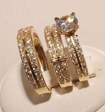 Engagement Ladies & Men Set Brand New 14k Gold Trio Bridal Ring Wedding &