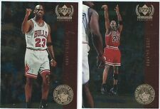 MICHAEL JORDAN 1999 UPPER DECK CENTURY LEGENDS MEMORABLE SHOTS #MJ5 & #MJ6!