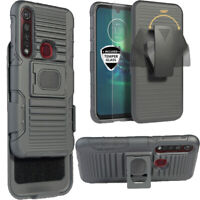 Case for Motorola Moto G8 Plus Holster Belt Clip Hybrid Defender Armor Cover