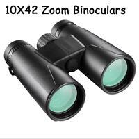 10X42 Zoom Day Vision HD Long Range Focuser Binoculars Hunt Telescope Waterproof