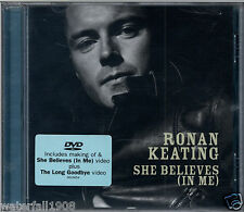 RONAN KEATING - SHE BELIEVES (IN ME) 2004 EU DVD SINGLE PAL POLYDOR - 9816654