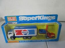 1979 Matchbox Super Kings Delivery Truck and Forklift Pepsi K-40