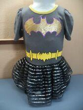 DC Superhero Girls Batman Dress Gray & Black Poly/Cotton Size 3T VGC Movies TV