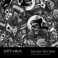 Wassertransferdruck Folie WTD Starterset 2m Skull Game + Aktivator
