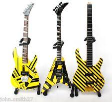 Miniature Guitar STRYPER Set of 3 Michael Sweet V, Oz Fox 777 & Tim Gaines Bass