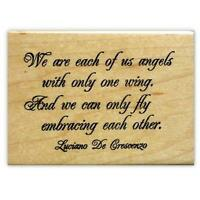Angels... Embracing...friendship saying Mounted rubber stamp, friend quote #18