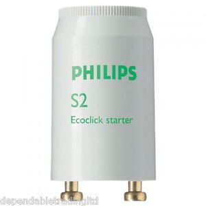 x 50 Philips S2 Fluorescent Tube Starters (4w-22w) 220v - 240v Series Starter