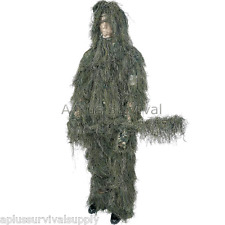 4 Piece Ghillie Suit Large to Extra Large Size Paintball Tactical Camo Clothing
