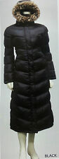 LADIES WOMENS PLUS SIZE BLACK  FUR HOODED WINTER LONG COAT JACKET 5XL
