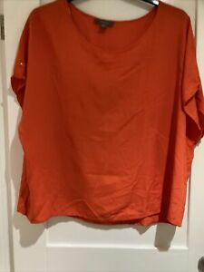 Ladies Orange Primark Blouse Top Size 20 New Without Tags