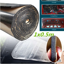 1x0.5m Car Heat Shield Insulation Sound Deadener Mat Firewall Aluminum Foil 10mm
