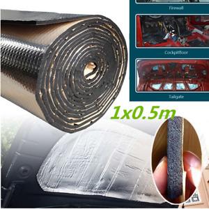 1x0.5m Car Heat Shield Insulation Sound Deadener Mat Firewall Aluminum Foil 10mm