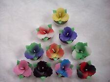 HANDMADE 10 MIXED SCENTED  FLOWER CANDLES TEA LIGHT