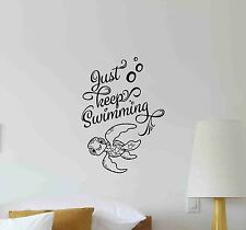 Squirt Turtle Wall Decal Just Keep Swimming Disney Vinyl Sticker Nemo Poster 698