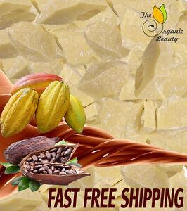 3 LB / 48 oz RAW 100% PURE COCOA BUTTER Unrefined Natural Fresh Cold Pressed