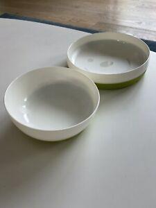 IKEA SMAGLI Kids Plate Bowl Set White + Green