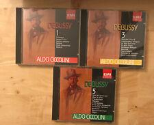 Debussy L'Oeuvre Pour Piano Vol 1, III & V 3 CD LOT Aldo Ciccolini EMI Classics