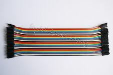 40PCS Dupont Wire Color Jumper Cable 2.54mm 1P-1P Male To Female 20cm