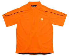 Canari Sport Jersey Mens Large L LG Short Sleeve Super Bright Neon Solar Orange
