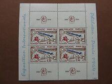 FRANCE neufs  n° 1422  PHILATEC 1964 bloc de 4