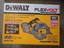 DEWALT DCS575T2 60 VOLT MAX FLEXVOLT Circular Saw Kit w/ 2 DCB606 & DCB118 NEW !