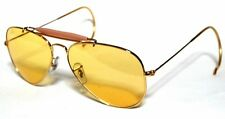 RAY BAN 3030 58 OUTDOORSMAN GOLD ORO YELLOW AMBERMATIC PERSONALIZZATO REMIX